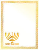 Detail illustration of a golden happy hanukkah card. — Stock Photo
