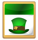 Hat for St. Patrick on calendar — Stock Photo