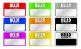 Hello, my name is — Stock Photo