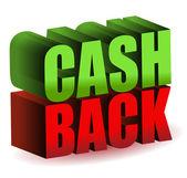 Cash back — Stock Photo