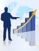 Chart business presentation — Stock Photo