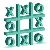 Noughts and crosses game — Stock Photo