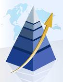 Successful pyramid — Stock Photo