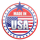 Circular illustration made in USA stamp isolated over a white background. — Stock Photo