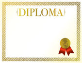 Diploma Frame — Stock Photo