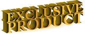 Exclusief product goud teken — Stockfoto