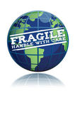 Globo fragile — Foto Stock