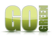 Go green sign illustration isolated over a white background — Stock Photo