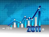 Successful 2010-2011 business graph — Stock Photo