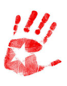 Star handprint — Stock Photo