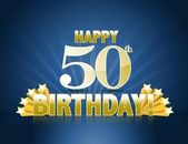 50th birthday — Stock Photo