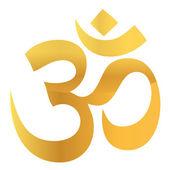 Gold Om Aum Symbol — Stock Photo
