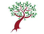 Family tree, relatives illustration design isolated over a white background — Stock Photo