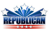 Republican sign — Stock Photo