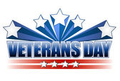 Veterans day logo illustration isolated over a white background. — Stock Photo