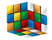 Colorful 3d cube — Stock Photo