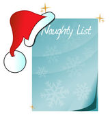 Naughty list — Stock Photo