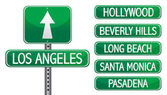 Los angeles street signs isolated over a white background — Stock Photo