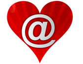 Email love heart — Stock Photo