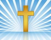 Holy Cross with rays of light. Vector file available. / Cross In Heaven — Stock Photo