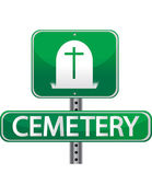 Cemetery street sign — Stock Photo
