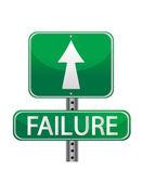 Failure street sign concept — Stock Photo