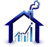 House prices graph illustration design isolated over a white background — Stock Photo