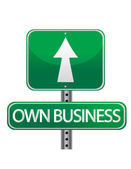Own business street sign — Stock Photo
