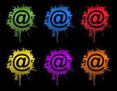 Ink Email splatters sign isolated on white. — Stock Photo