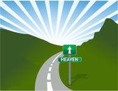 Road to heaven Illustration — Stock Photo