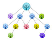 Networking business graph isolated over a white background. — Stock Photo