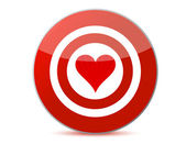 Love target — Stock Photo