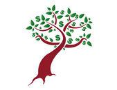 Money tree illustration design on a white background — Stock Photo