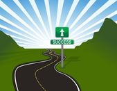 Illustration of road to success. Vector file available — Stock Photo