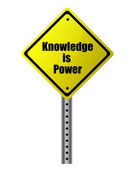 Knowledge is power Street sign. Vector file available. — Stock Photo