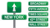New York Street signs — Stock Photo