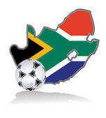 South Africa and soccer ball — Stock Photo