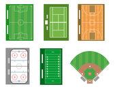 Set sportvelden en rechtbanken. vector bestand ook beschikbaar. — Stockfoto