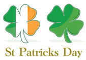 Irish Four Leaf Clover flag. eps available — Stock Photo