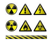 Vector of chemical hazard symbols on white — Stock Photo