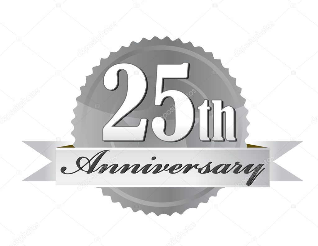 25th Anniversary Seal   — Stock Photo #6413580