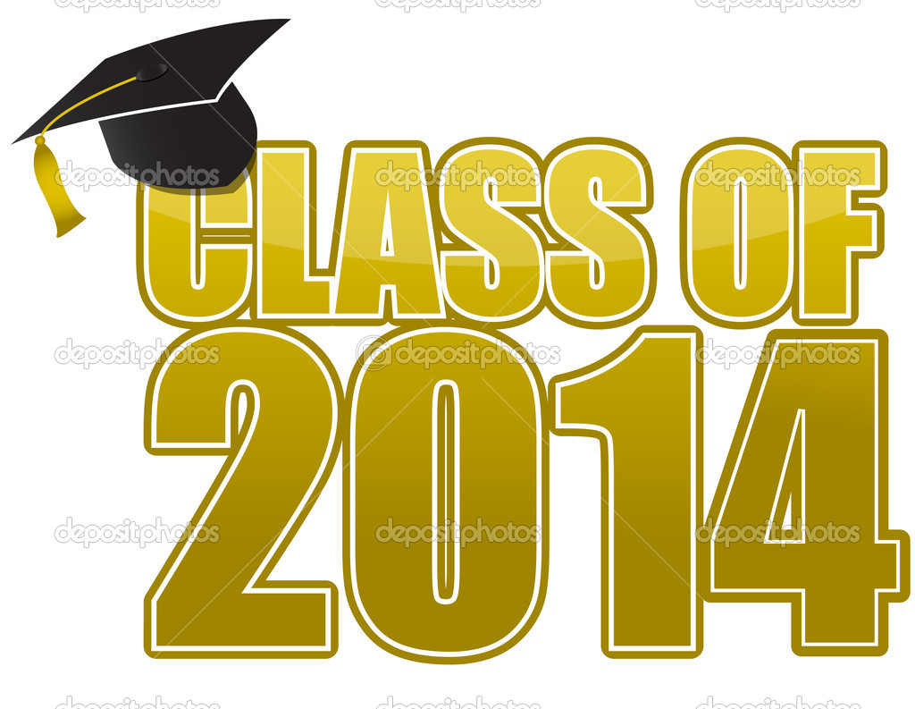 Graduation 2014 cap isolated on white background  - Stock ImageGraduation Borders 2014