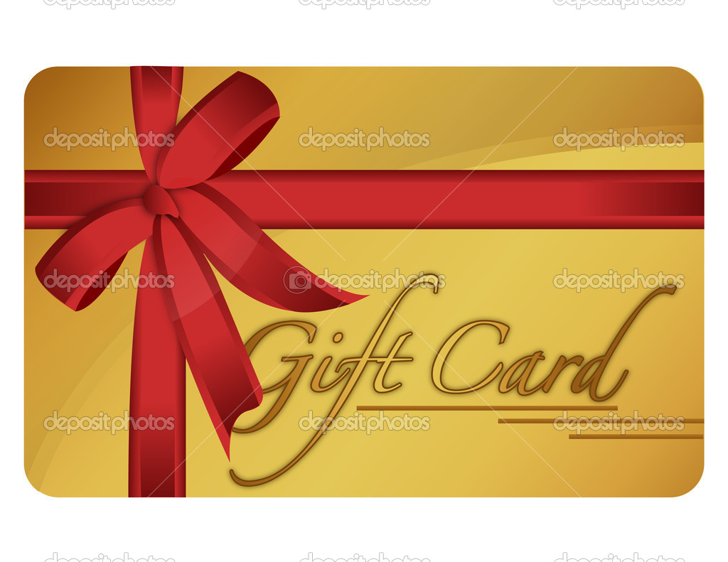 Generic gift card. Vector File available.  Stock Photo #6413806