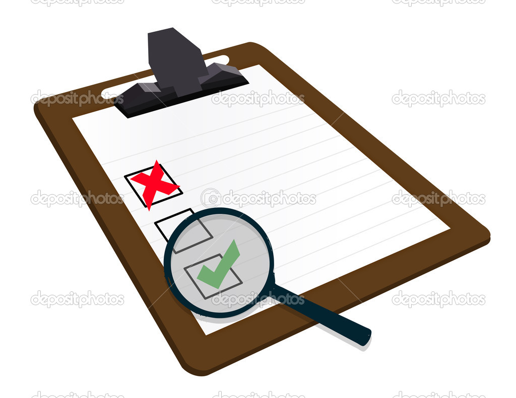 Searching for mistakes in survey     Stock Photo #6414184