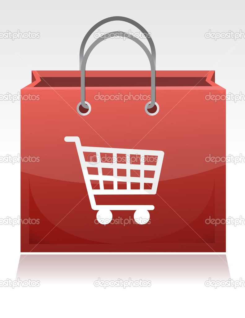Shopping cart illustration design with a shopping cart design on it  Stock Photo #6417664