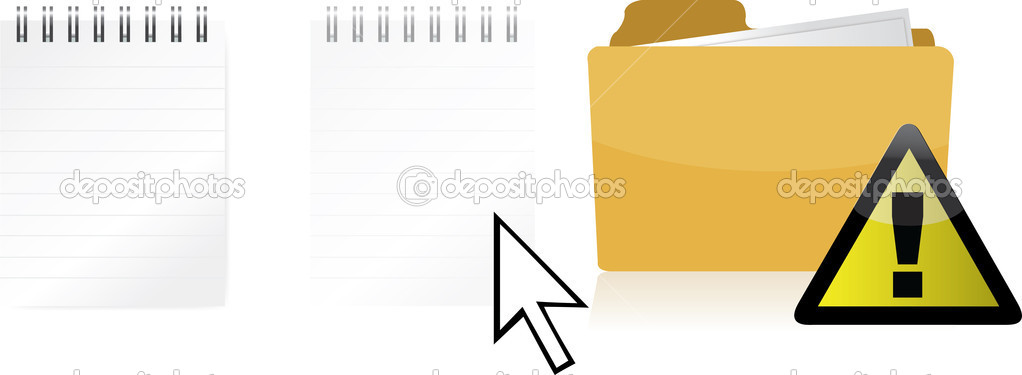 Problem transferring files illustration design isolated over a white background  Stock Photo #6417731