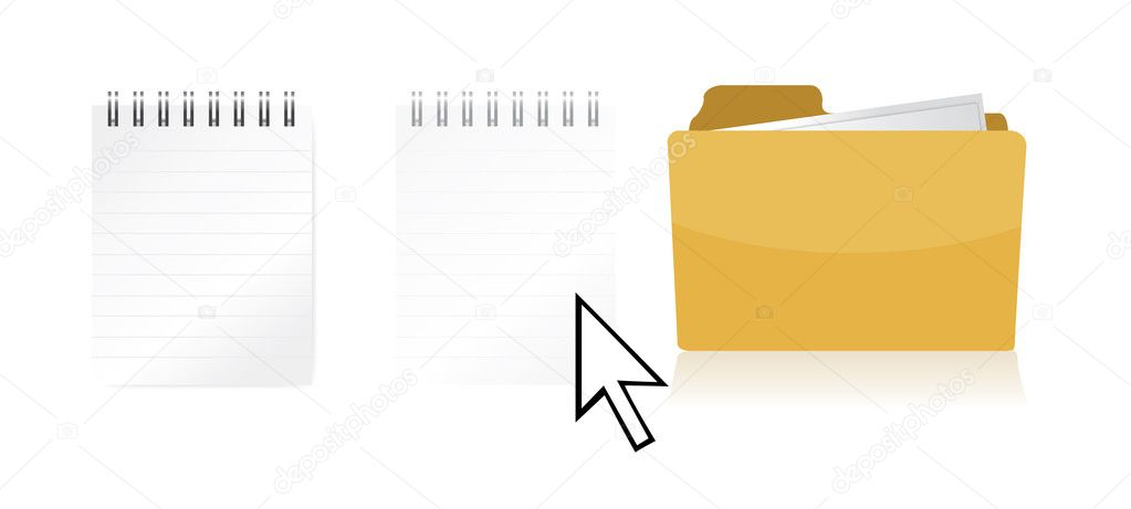 Dragging file inside a document folder illustration design  Stock Photo #6417736