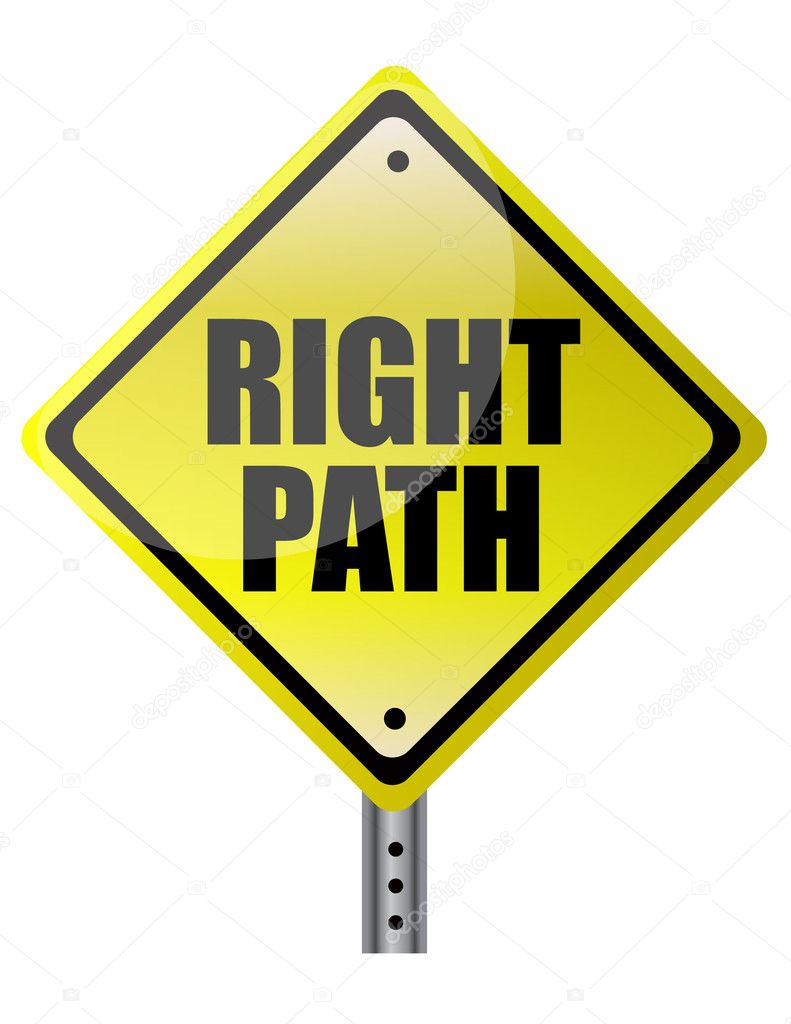 Right Path Street sign. Vector File available. — Stock Photo #6417902