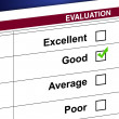 Evaluation list and check box illustration design — Stock Photo