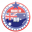 Made in Australia illustration stamp isolated over a white background - Stock Photo